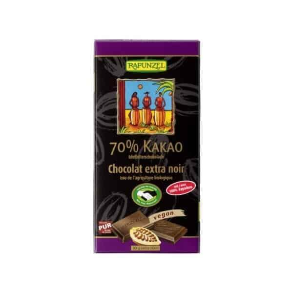 Ciocolata Amaruie 70 Cacao Vegana 80g Rapunzel