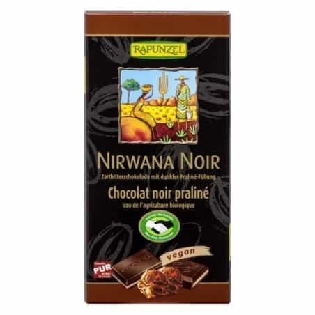 Ciocolata Nirwana Neagra cu Trufandale 55 Cacao Vegana 100g Rapunzel