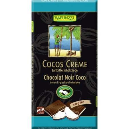 Ciocolata Amaruie cu Umplutura de Crema de Cocos Vegana 100g Rapunzel