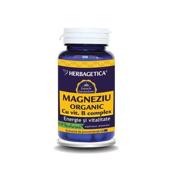 Magneziu Organic B-Complex 30 cps Herbagetica