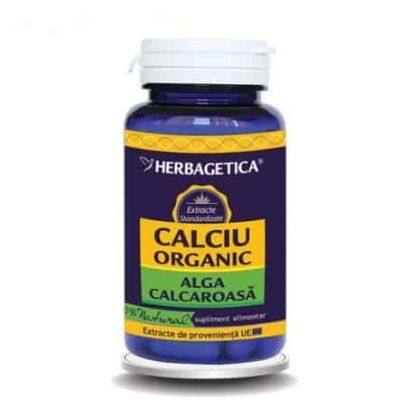 Calciu Organic 60 cps Herbagetica