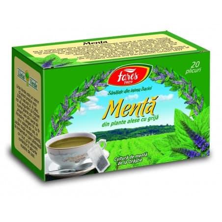 Ceai Menta, 20 pliculete FARES