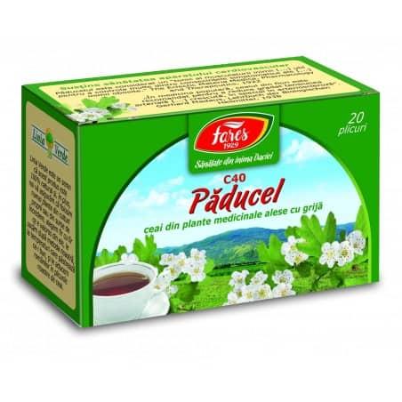 Ceai Paducel Cu Flori, 20 pliculete FARES