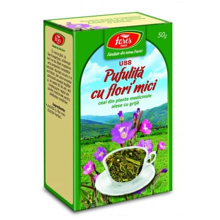 Ceai Pufulita Cu Flori Mici – Iarba, punga a 50 gr FARES
