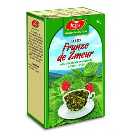 Ceai Zmeur – Frunze, punga a 50 gr FARES