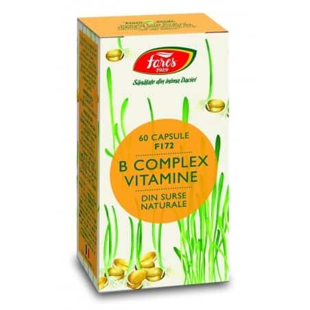 B Complex Vitamine Naturale, capsule 60 buc FARES