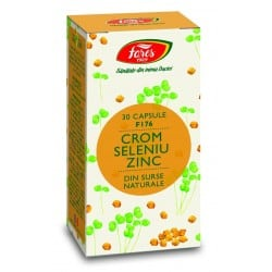 Crom+Seleniu+Zinc, capsule 30 buc FARES
