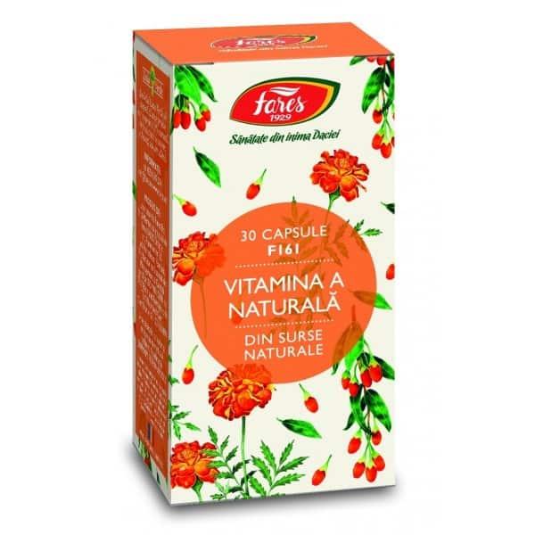 Vitamina A Naturala, capsule 30 buc FARES