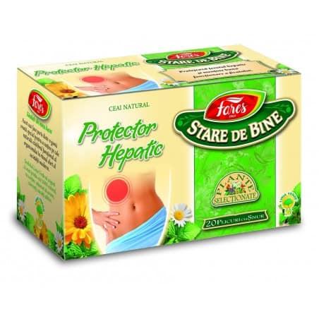 Ceai Protector Hepatic, 20 pliculete cu snur FARES