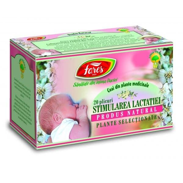Ceai Stimularea Lactatiei, 20 pliculete FARES