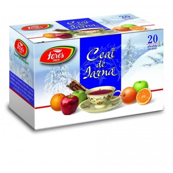 Ceai Iarna, 20 pliculete cu snur FARES