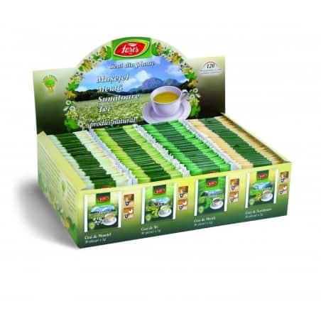Ceai plante Asortat, 120 pliculete cu snur si Supraplic FARES