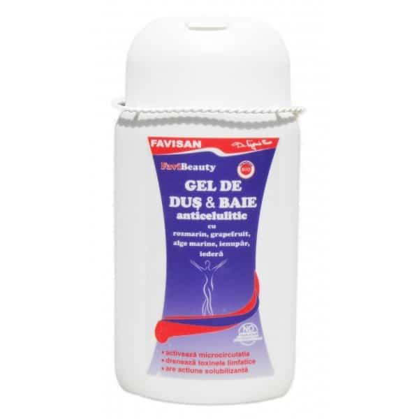 Favicelusal-Gel De Dus & Baie Anticelulitic 300ml FAVISAN