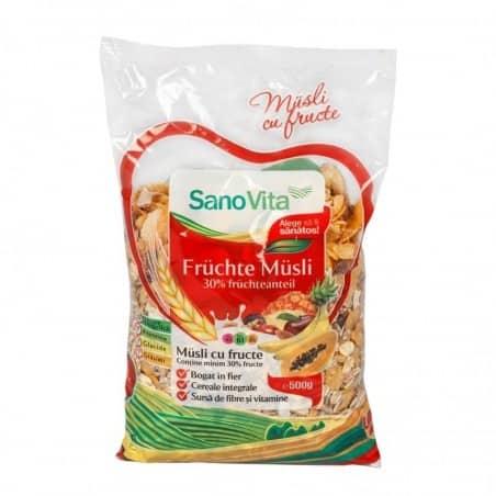 Musli cu fructe 500g Sanovita