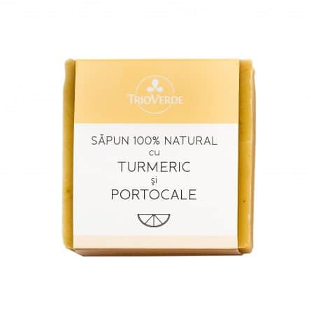 Sapun 100% natural cu Turmeric & Portocale 110gr Trioverde