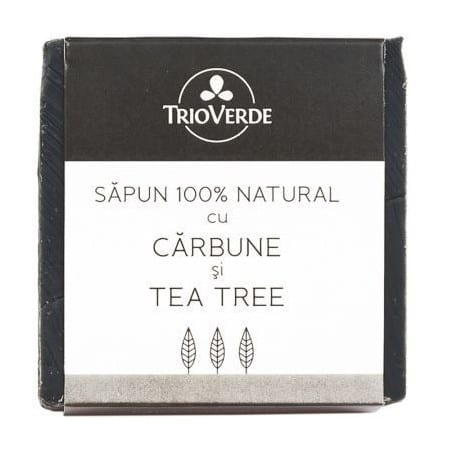 Sapun 100% natural cu Carbune & Tea Tree 110gr Trioverde
